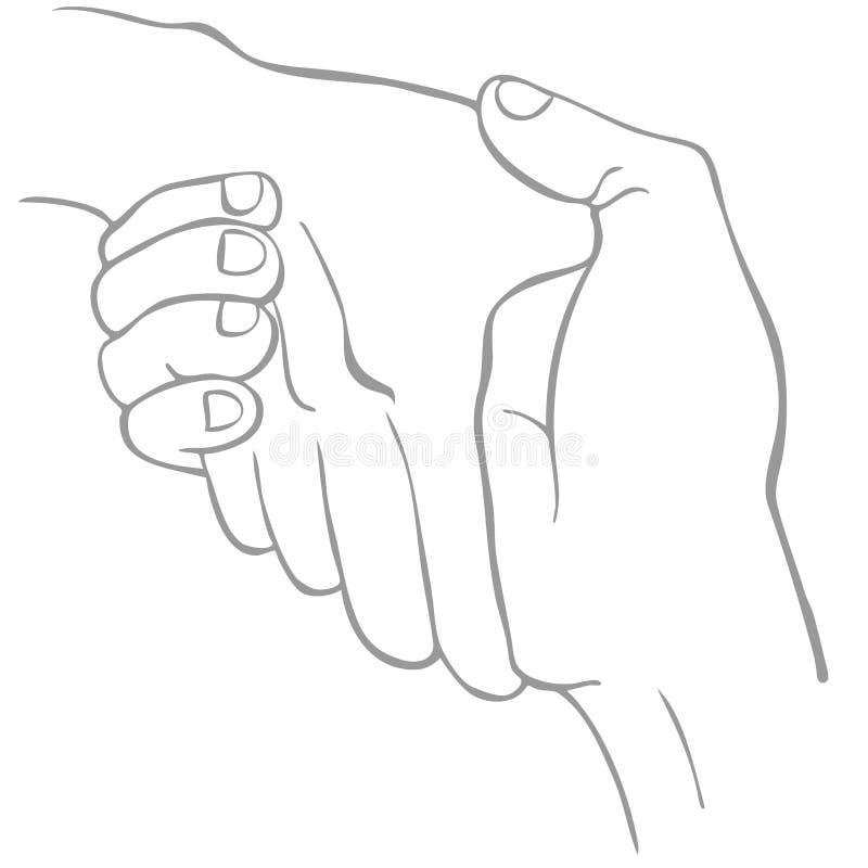 Línea apretón de manos del arte stock de ilustración