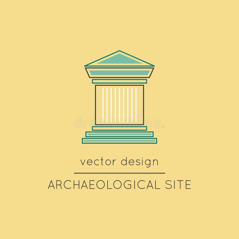 Línea arqueológica icono del sitio libre illustration