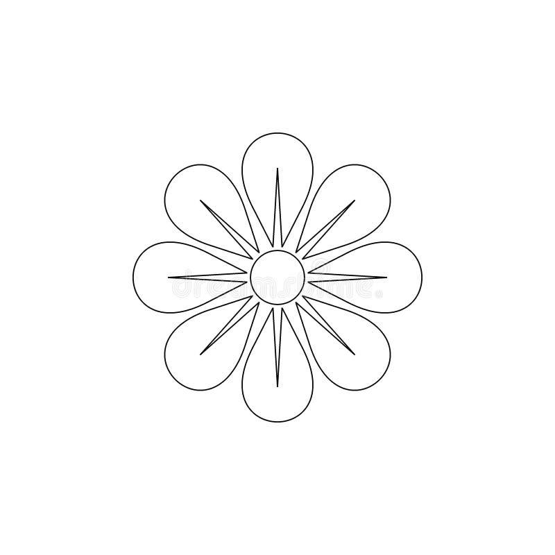 Línea arte de la flor Vector del icono de la flor stock de ilustración