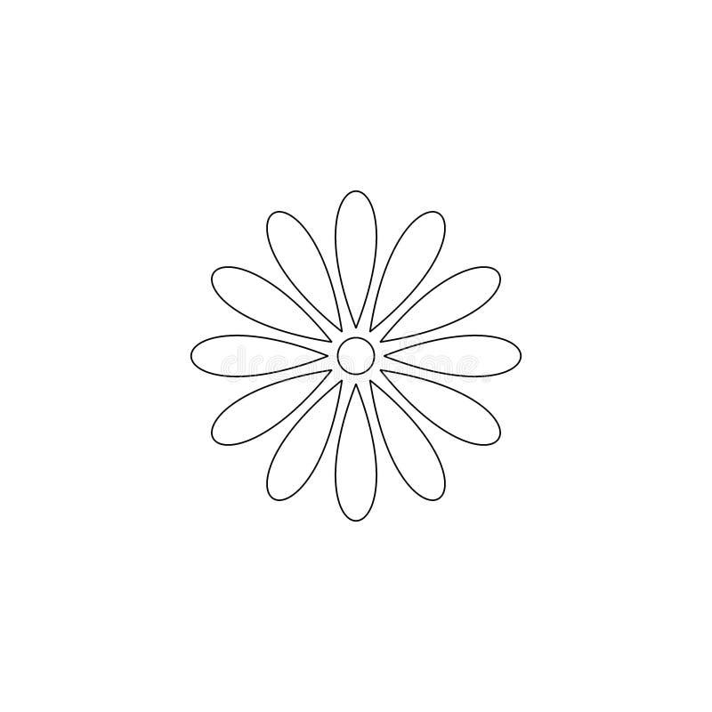 Línea arte de la flor Vector del icono de la flor ilustración del vector