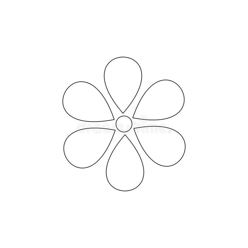 Línea arte de la flor Vector del icono de la flor libre illustration