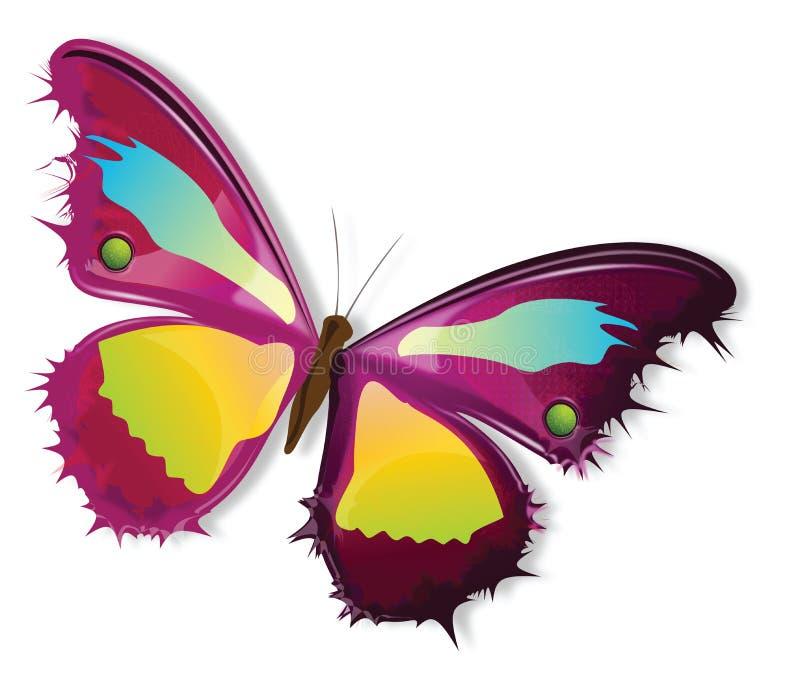 Línea arte de la mariposa libre illustration