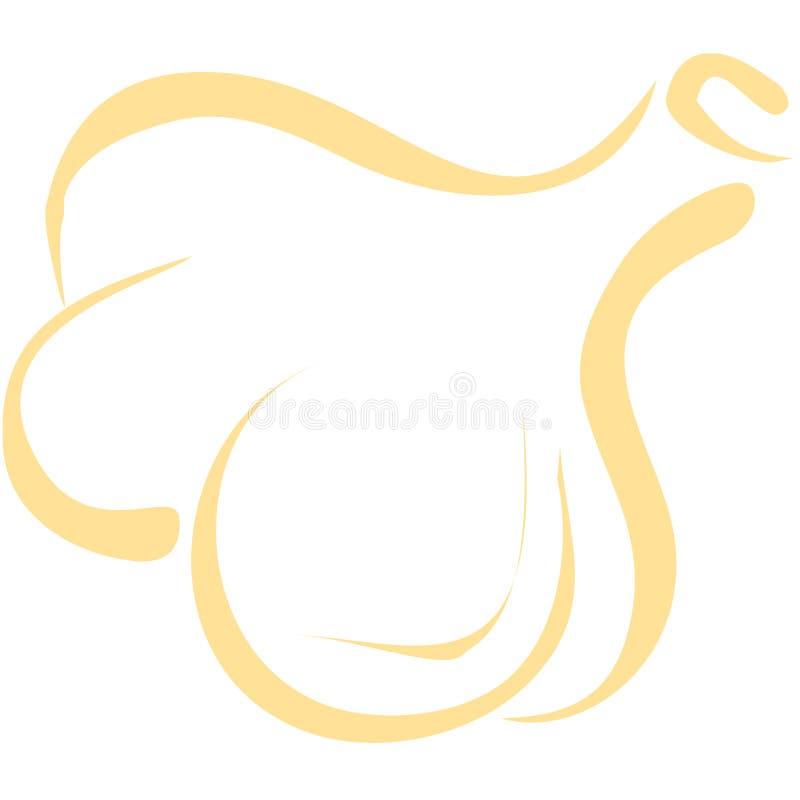 Línea arte del ajo stock de ilustración