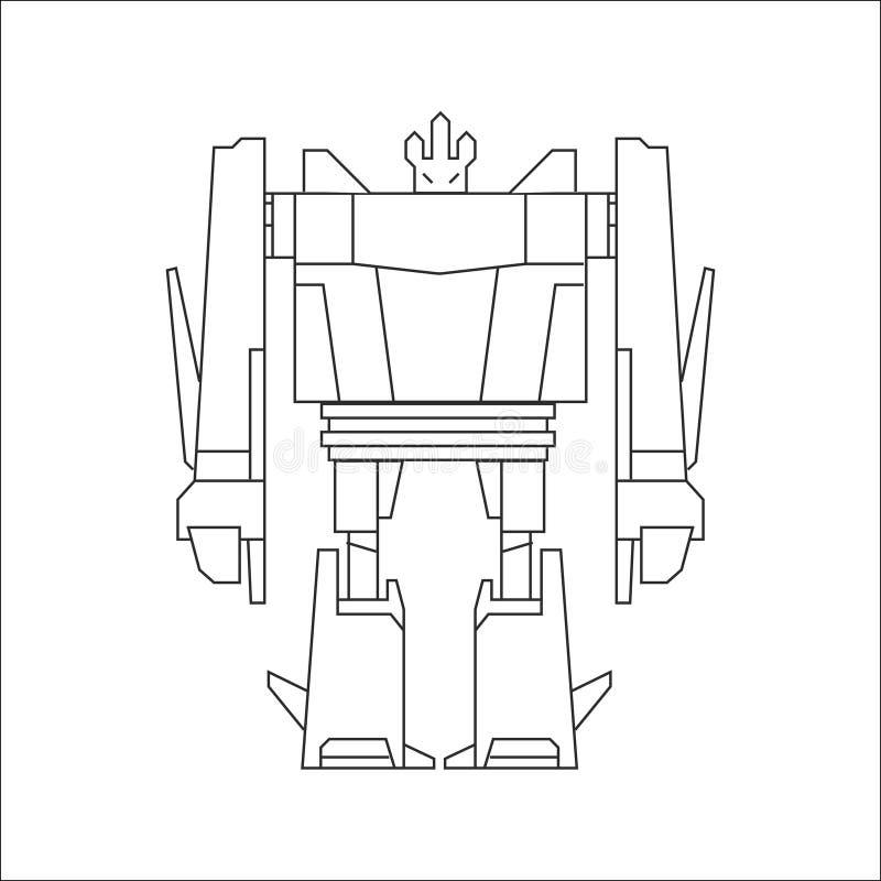 Línea arte del robot libre illustration