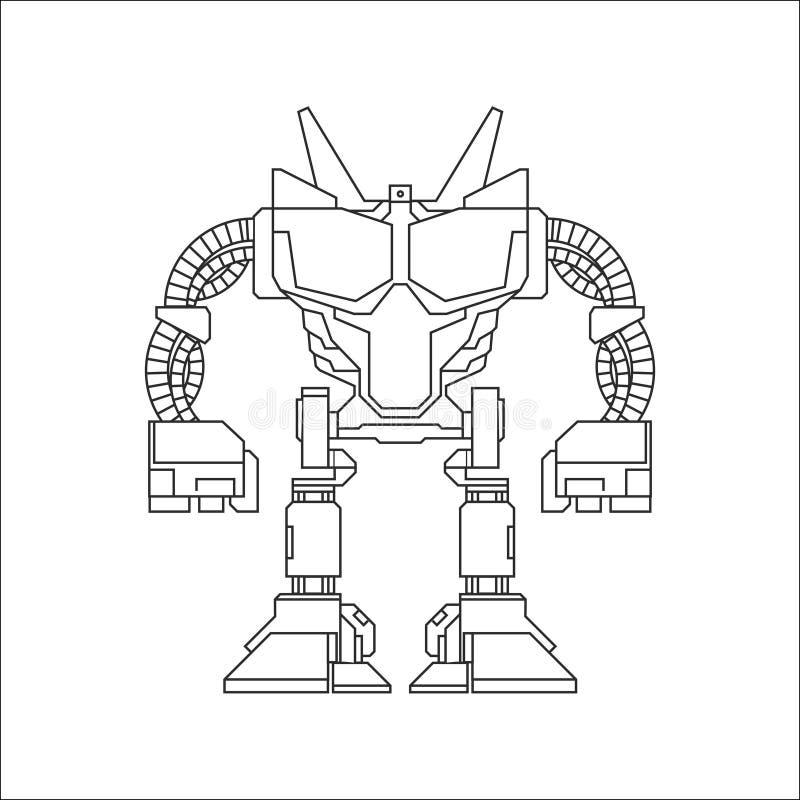 Línea arte del robot ilustración del vector