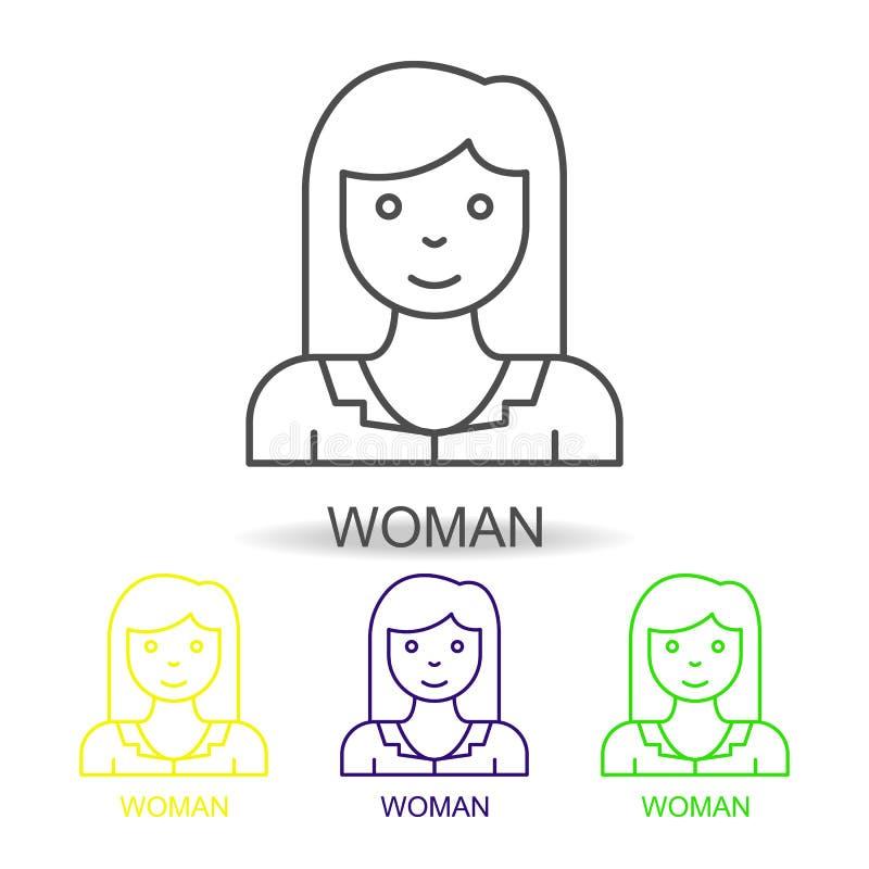 línea asesor iconos de Internet del color Elemento del icono de los recursos humanos para los apps móviles del concepto y del web libre illustration