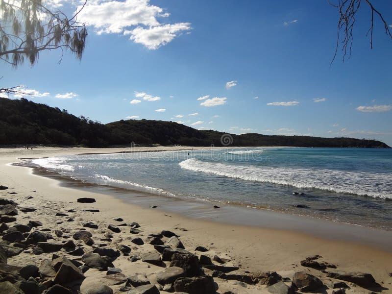 Línea australiana de la costa en Queensland foto de archivo libre de regalías