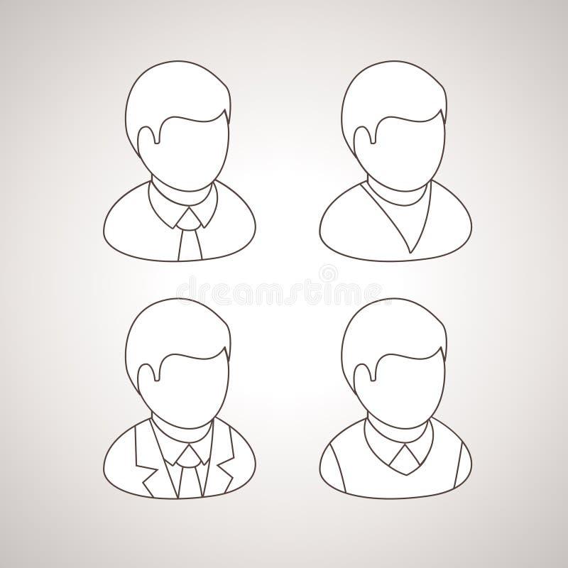Línea avatares del vector libre illustration
