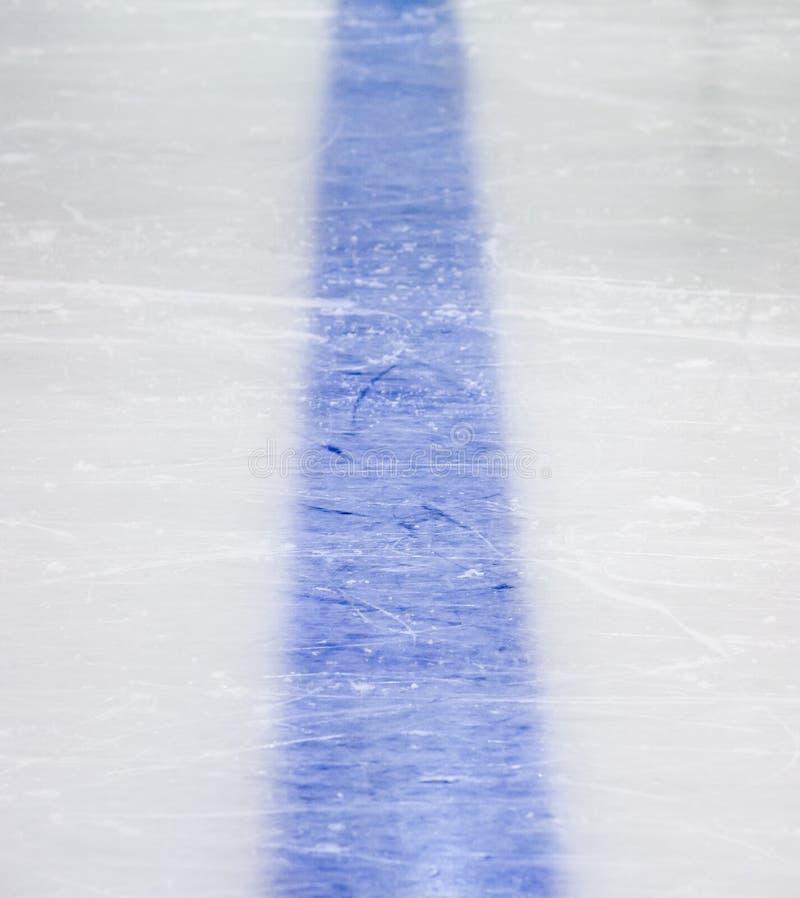Línea azul del hockey imagenes de archivo