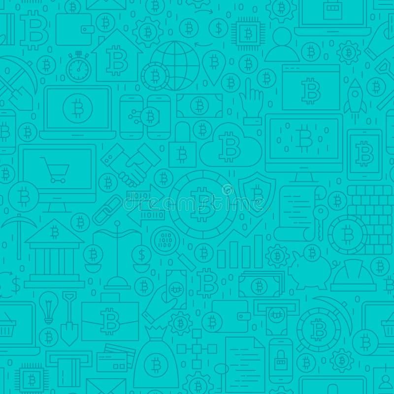 Línea azul modelo de Cryptocurrency de la teja libre illustration