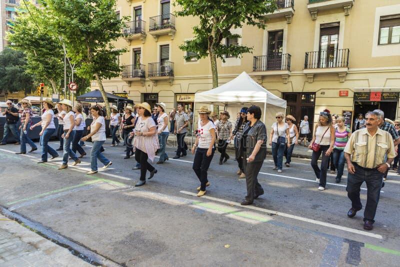 Línea baile, Barcelona del país fotografía de archivo libre de regalías