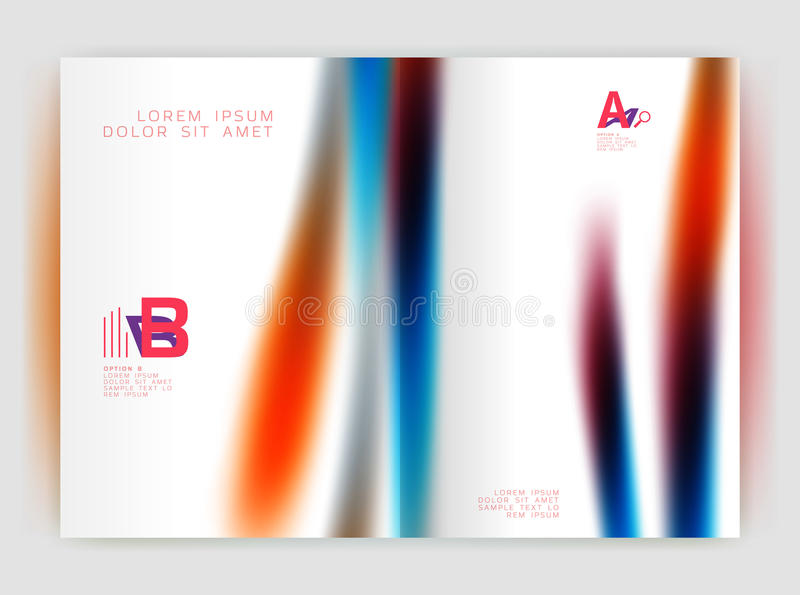 Línea borrosa de la onda Fondo del extracto del informe anual del negocio stock de ilustración