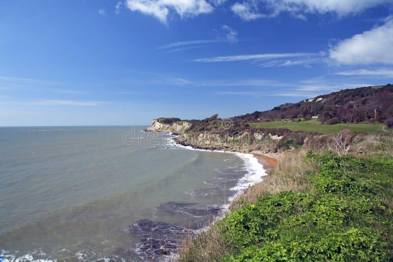 Línea británica de la costa imagenes de archivo