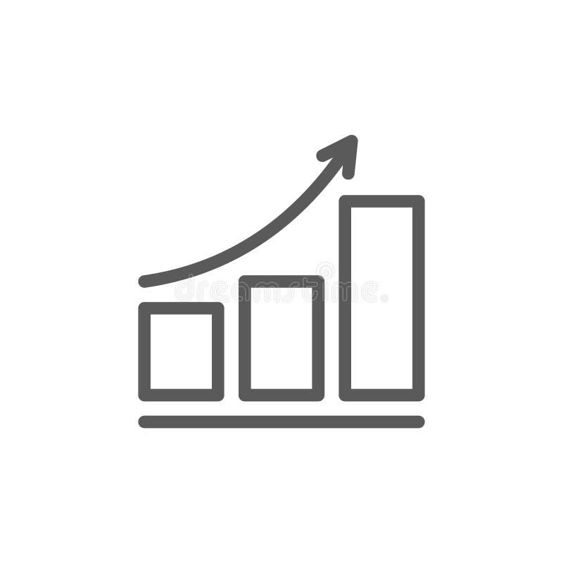 Línea cada vez mayor icono del horario ilustración del vector