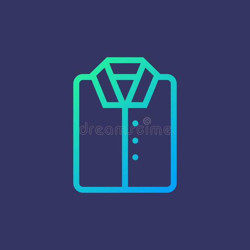 Línea camisa del icono libre illustration
