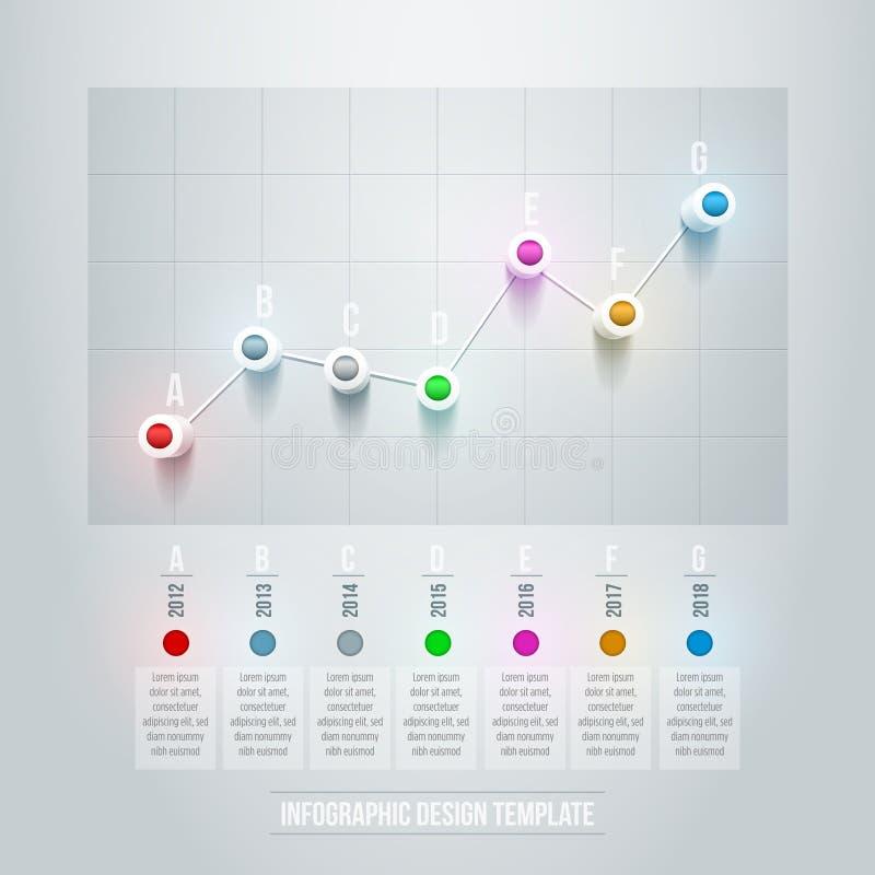 Línea carta Infographic stock de ilustración