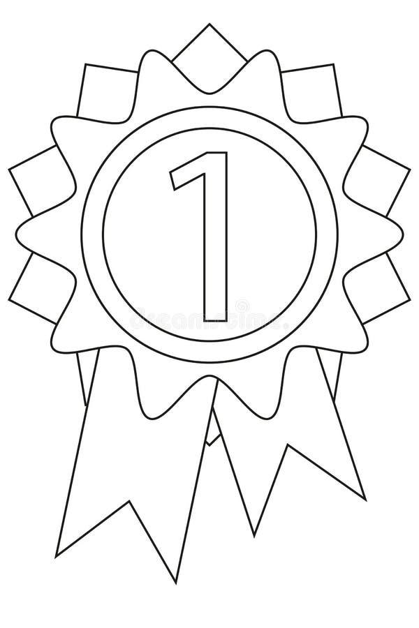 Línea cartel blanco y negro del icono de la recompensa del lugar del arte primer stock de ilustración