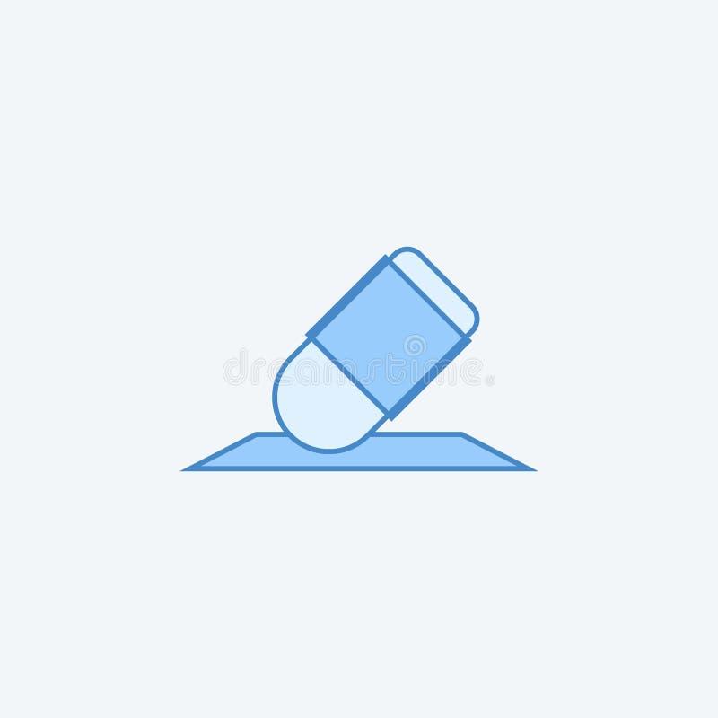 Línea coloreada icono del borrador 2 Ejemplo oscuro y azul claro simple del elemento Diseño del símbolo del esquema del concepto  stock de ilustración