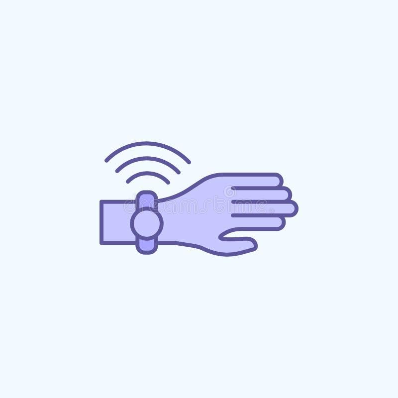 línea coloreada icono del reloj 2 elegantes Ejemplo simple del elemento coloreado diseño elegante del símbolo del esquema del rel ilustración del vector