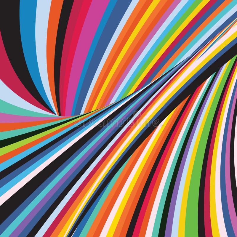 Línea colorida geométrica de la raya del modelo del fondo del arco iris del extracto libre illustration