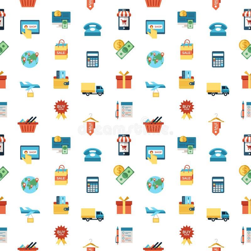 Línea compras móviles fijadas iconos del vector de PrintDigital libre illustration