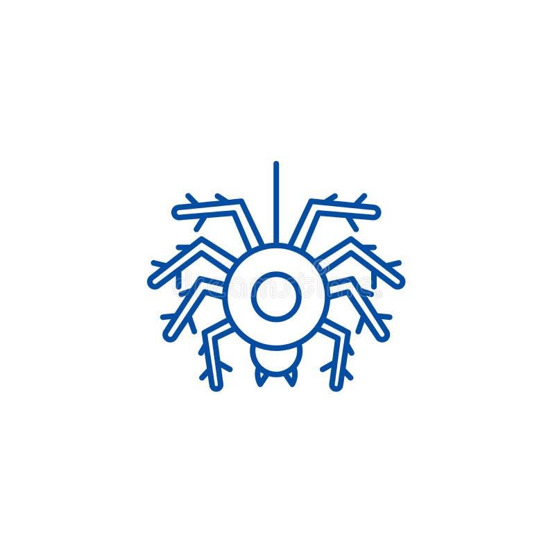 Línea concepto de la araña del icono Símbolo plano del vector de la araña, muestra, ejemplo del esquema ilustración del vector