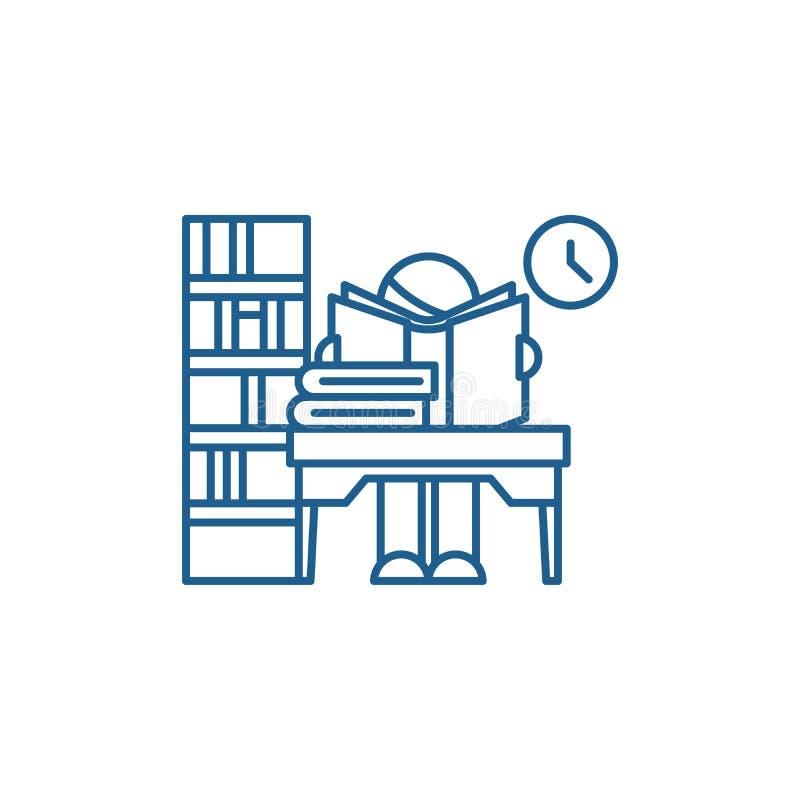 Línea concepto de la biblioteca del icono Símbolo plano del vector de la biblioteca, muestra, ejemplo del esquema ilustración del vector