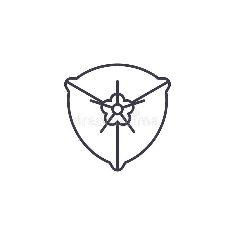 Línea concepto de la buganvilla del icono Muestra plana del vector de la buganvilla, símbolo, ejemplo libre illustration
