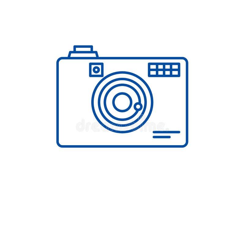 Línea concepto de la cámara digital del icono Símbolo plano del vector de la cámara digital, muestra, ejemplo del esquema ilustración del vector