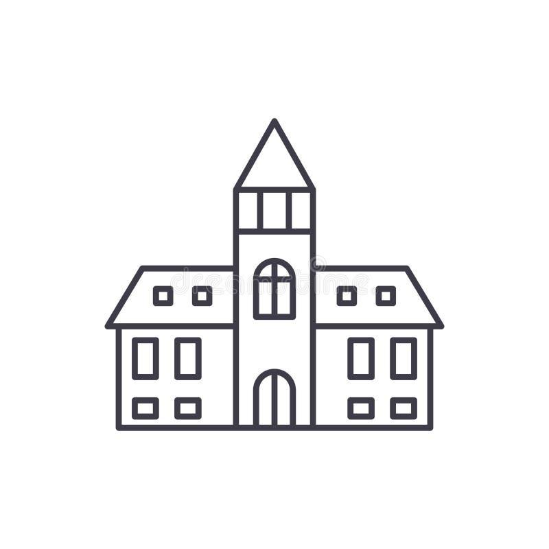 Línea concepto de la catedral del icono Ejemplo linear del vector de la catedral, símbolo, muestra ilustración del vector