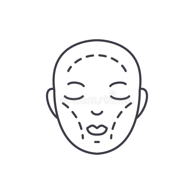 Línea concepto de la cirugía plástica del icono Ejemplo linear del vector de la cirugía plástica, símbolo, muestra ilustración del vector