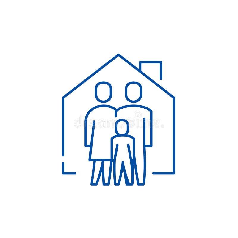 Línea concepto de la comodidad de la familia del icono Símbolo plano del vector de la comodidad de la familia, muestra, ejemplo d libre illustration