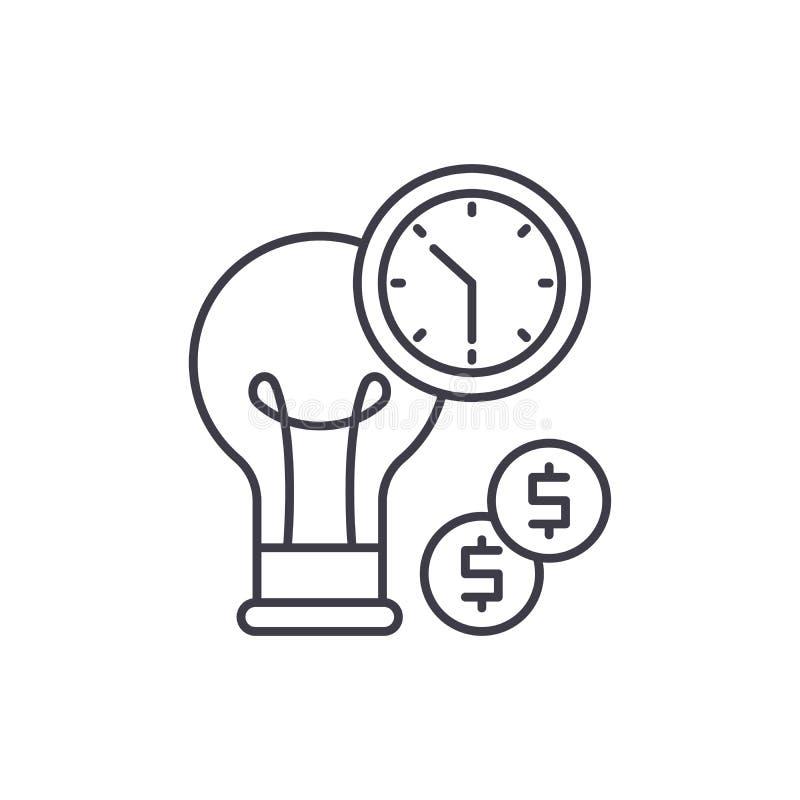 Línea concepto de la eficacia del negocio del icono Ejemplo linear del vector de la eficacia del negocio, símbolo, muestra libre illustration