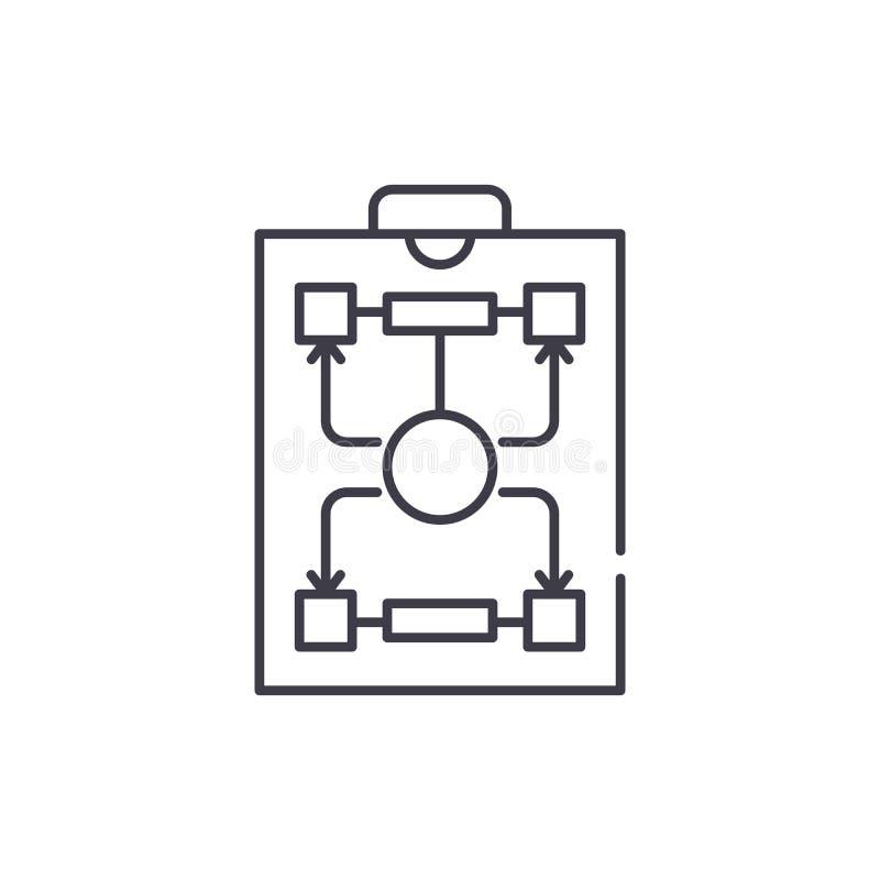 Línea concepto de la estructura de organización del icono Ejemplo linear del vector de la estructura de organización, símbolo, mu ilustración del vector