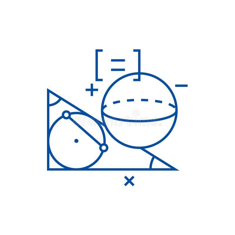 Línea concepto de la geometría del icono Símbolo plano del vector de la geometría, muestra, ejemplo del esquema libre illustration