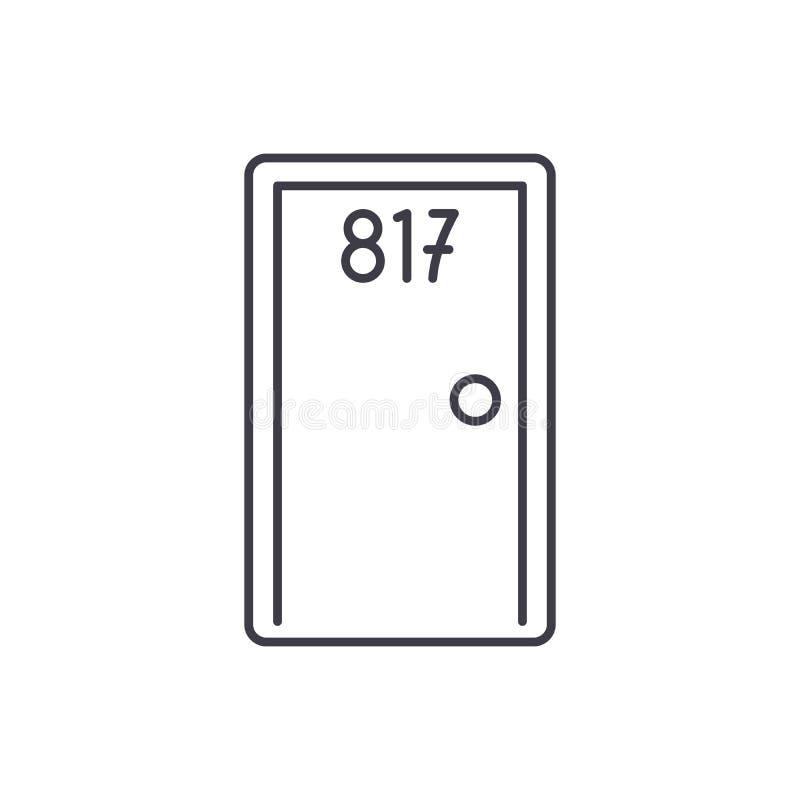 Línea concepto de la habitación del icono Ejemplo linear del vector de la habitación, símbolo, muestra libre illustration