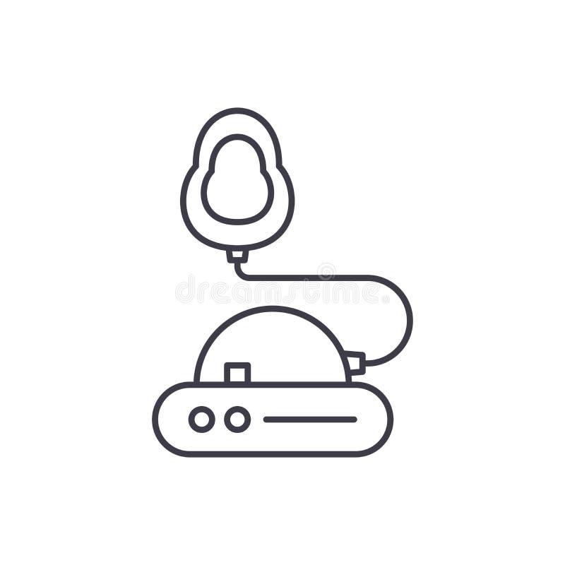 Línea concepto de la inhalación del icono Ejemplo linear del vector de la inhalación, símbolo, muestra stock de ilustración
