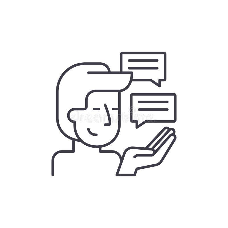 Línea concepto de la investigación del cliente del icono Ejemplo linear del vector de la investigación del cliente, símbolo, mues ilustración del vector