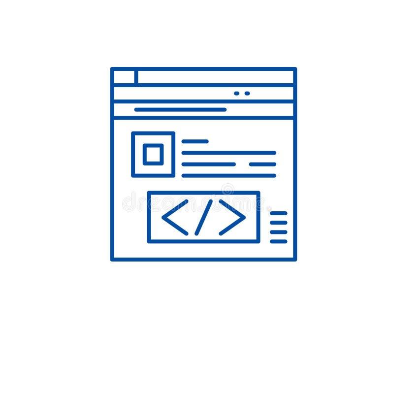 Línea concepto de la optimización del Search Engine del icono Símbolo plano del vector de la optimización del Search Engine, mues stock de ilustración