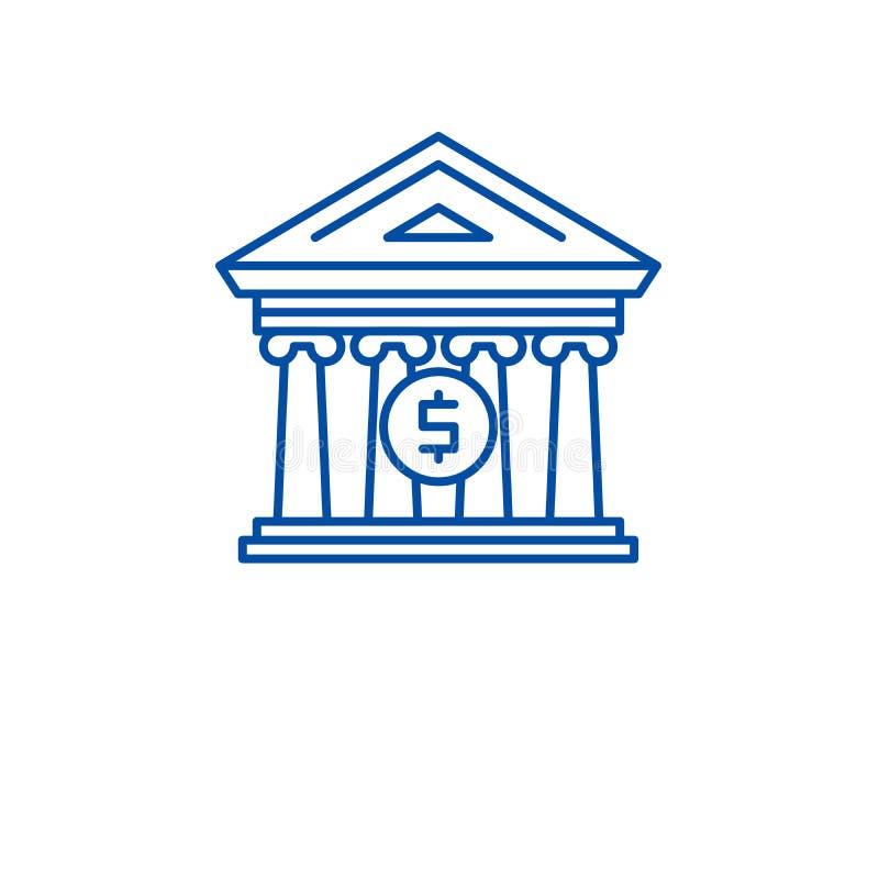Línea concepto de la organización financiera del icono Símbolo plano del vector de la organización financiera, muestra, ejemplo d stock de ilustración