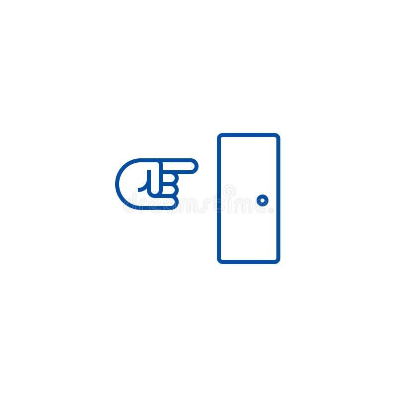 Línea concepto de la salida del icono Símbolo plano del vector de la salida, muestra, ejemplo del esquema stock de ilustración