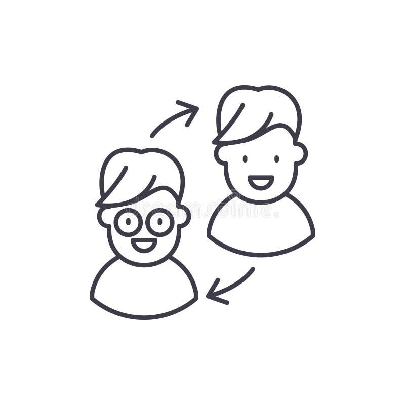 Línea concepto de la transformación del cliente del icono Ejemplo linear del vector de la transformación del cliente, símbolo, mu ilustración del vector