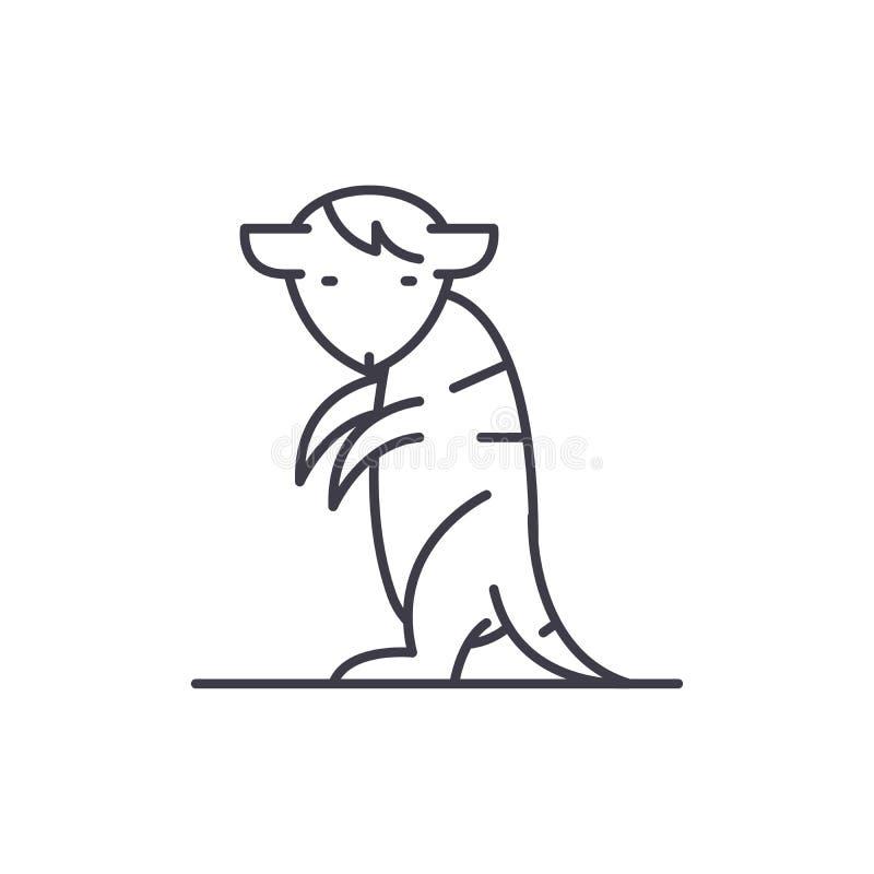 Línea concepto de Meerkat del icono Ejemplo linear del vector de Meerkat, símbolo, muestra libre illustration
