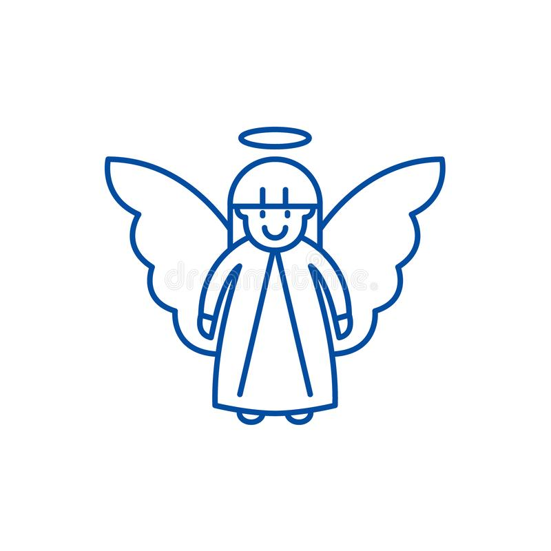 Línea concepto del ángel de Pascua del icono Símbolo plano del vector del ángel de Pascua, muestra, ejemplo del esquema libre illustration