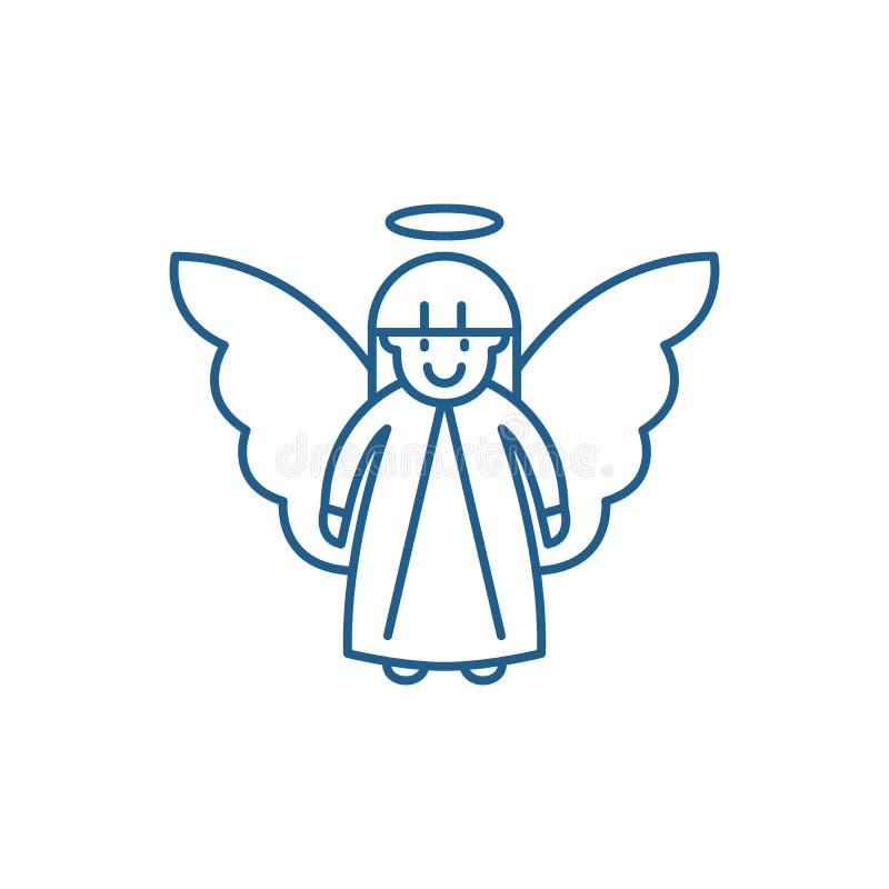 Línea concepto del ángel de Pascua del icono Símbolo plano del vector del ángel de Pascua, muestra, ejemplo del esquema stock de ilustración