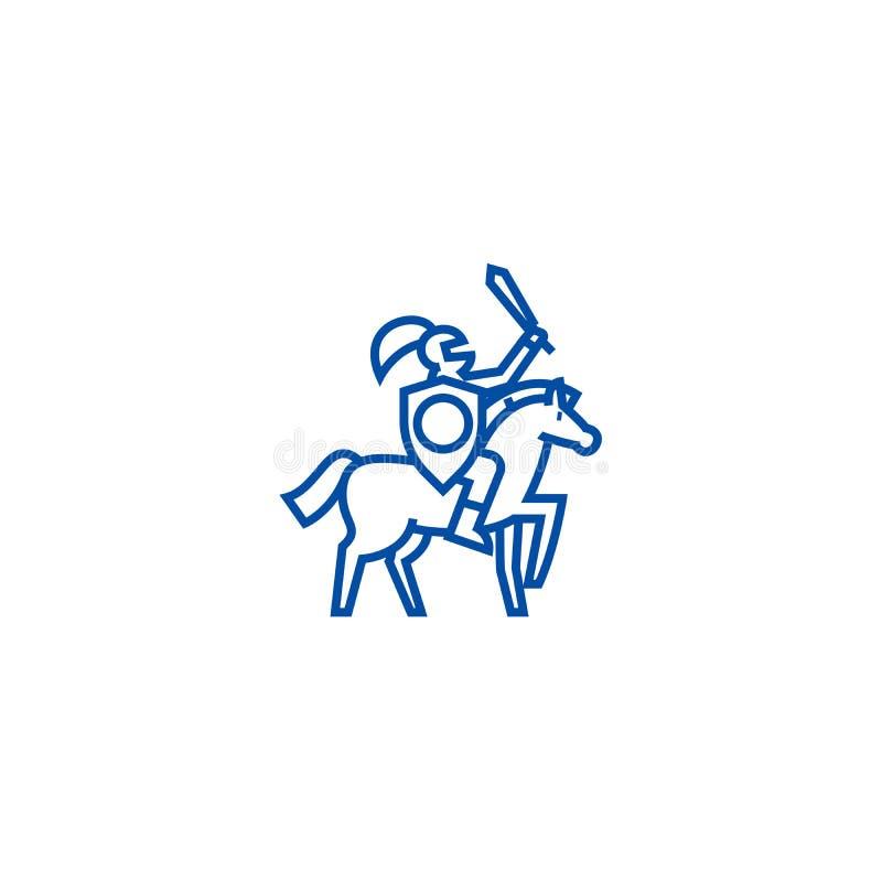 Línea concepto del caballero del icono Símbolo plano del vector del caballero, muestra, ejemplo del esquema ilustración del vector