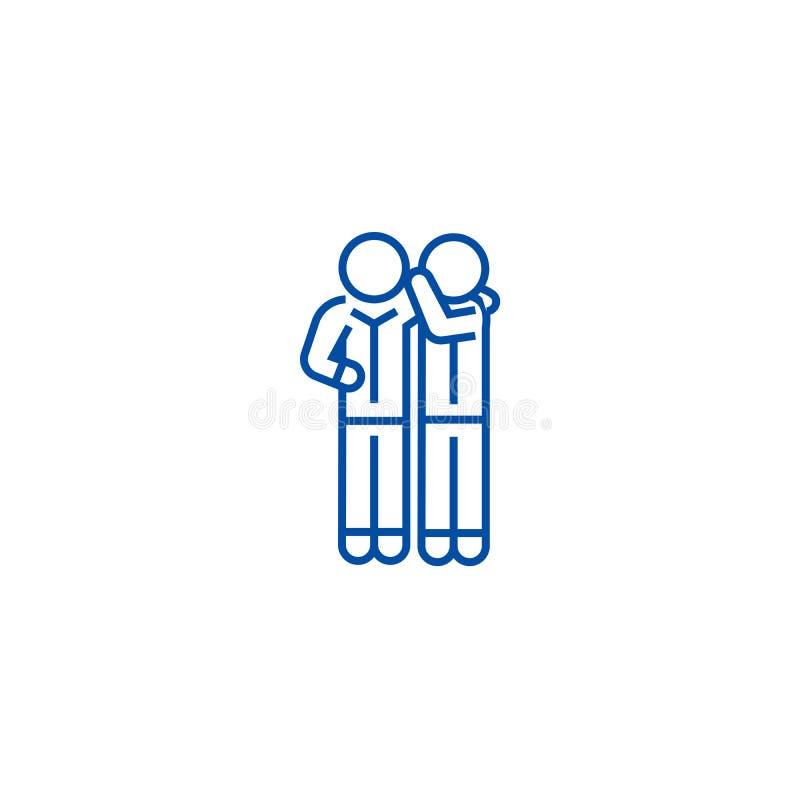 Línea concepto del chisme del icono Símbolo plano del vector del chisme, muestra, ejemplo del esquema stock de ilustración