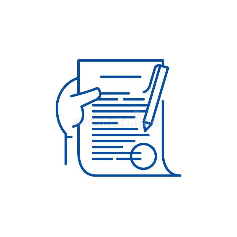 Línea concepto del compromiso del icono Símbolo plano del vector del compromiso, muestra, ejemplo del esquema libre illustration