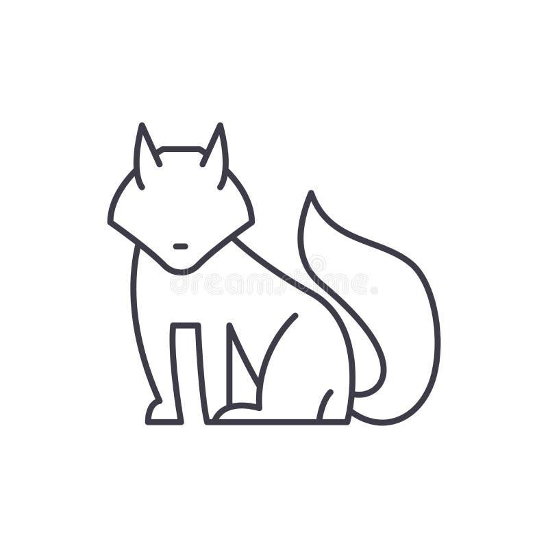 Línea concepto del Fox del icono Ejemplo linear del vector del Fox, símbolo, muestra stock de ilustración