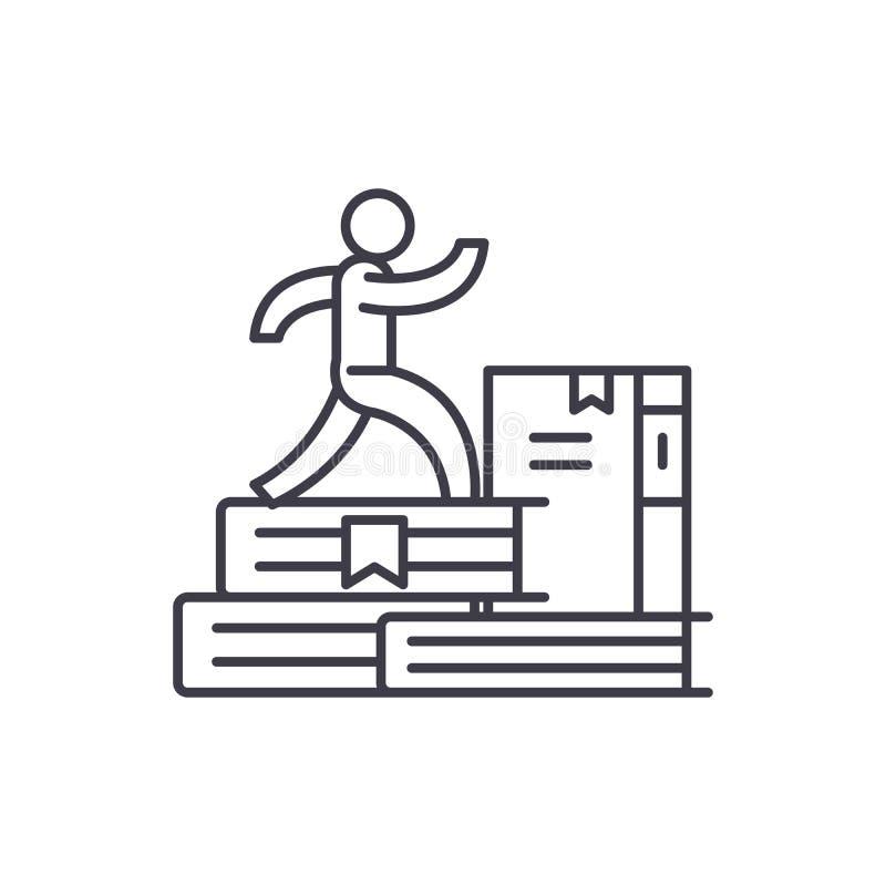 Línea concepto del nuevo conocimiento del icono Ejemplo linear del vector del nuevo conocimiento, símbolo, muestra ilustración del vector